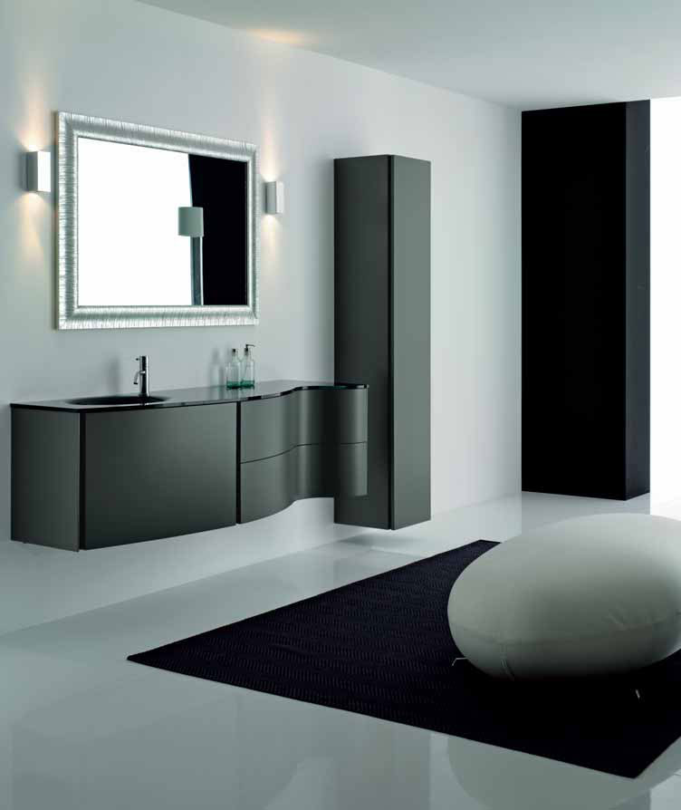 Elegant black bathroom cabinets max from novello digsdigs for Bathroom furniture design ideas