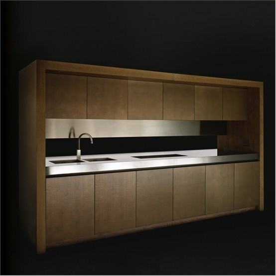 Elegant Wooden Kitchen – Bridge by Armani/Dada