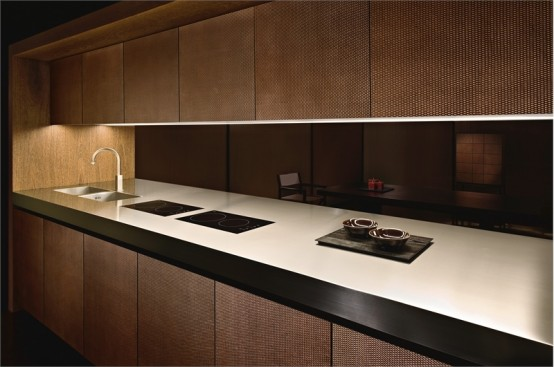 elegant wooden kitchen - bridgearmani/dada - digsdigs