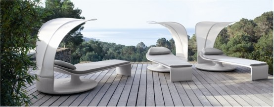 Elegant Outdoor Chaise Lounge – Summer Cloud By Dedon