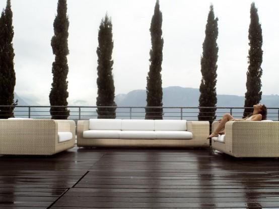 Elegant Outdoor Wicker Furniture Hug By Schönhuber Franchi