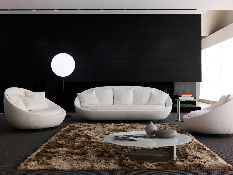 esign elegant living room couch like an egg shape
