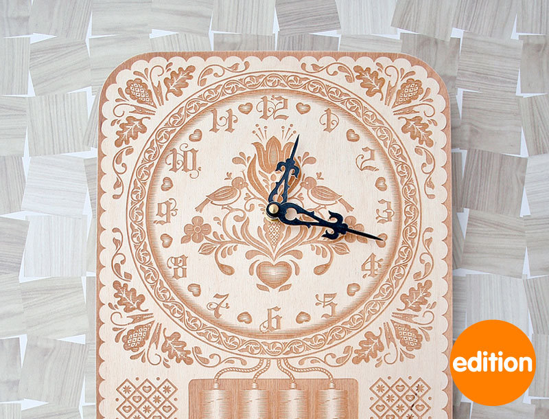 Elegant Wall Clock For Contemporary Room Design Neverend By Furni