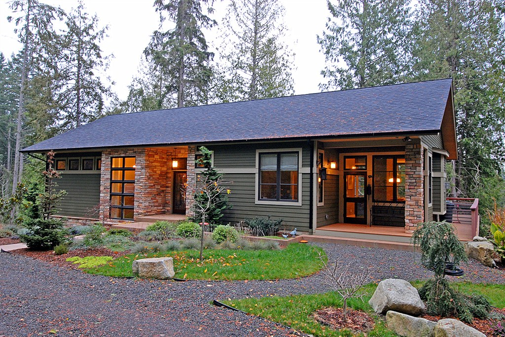 Natural and energy efficient house design on bainbridge for Small solar home plans