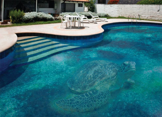 Fascinating swimming pool design with mosaic glass tiles for Pool tile designs