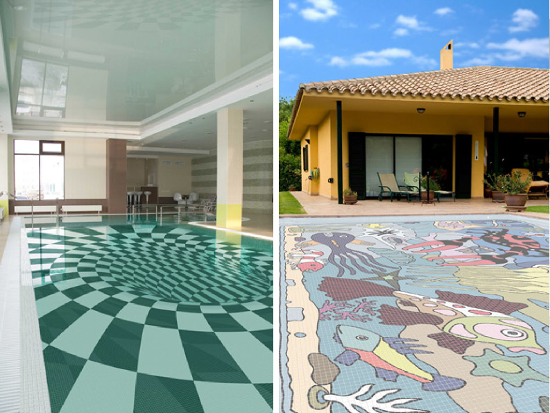 Swimming Pool Tile Designs : Glass Tile Swimming Pool Designs Earn New Jersey Based Cipriano Custom ...