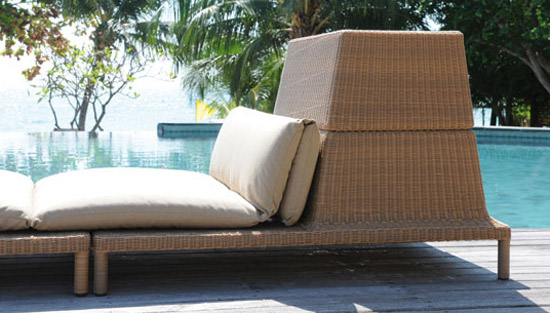 Fatback Sunlounger With Storage Basket