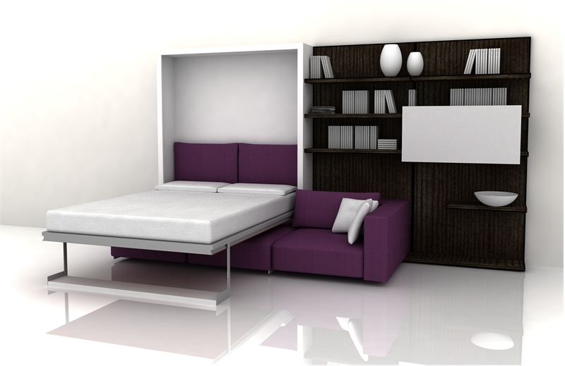 Functional Furniture With Folding Bed For Small Living Room ...