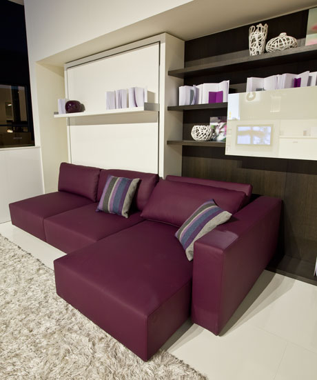 Impress Guests With 25 Stylish Modern Living Room Ideas: Functional Furniture With Folding Bed For Small Living