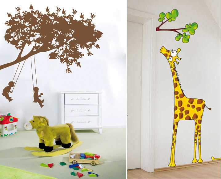 funny kids wall stickers by acte deco digsdigs children s giraffe wall sticker set contemporary wall