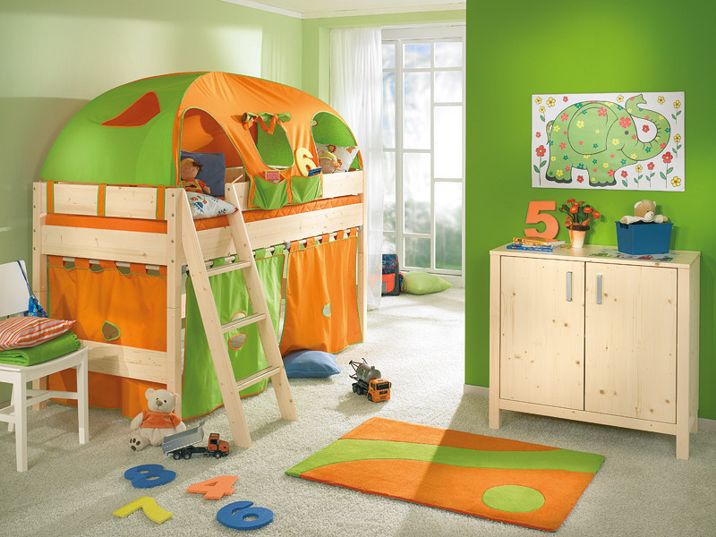 theme fun and attractive play beds for cool kids room