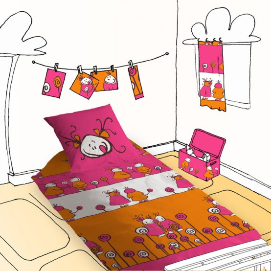 Lovely Funny Kids Bedding By Selene uGaia