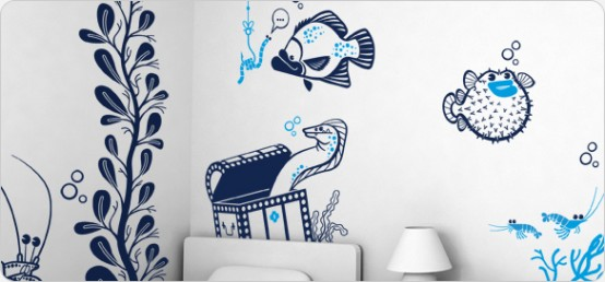 Giant Wall Sticker Sets For Cool Kids Room By E Glue