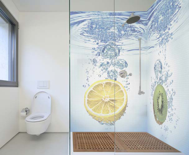 Mosaic Bathroom Tiles with Cool Images by Glassdecor