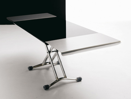 Glass Top Adjustable Low Table – Magic by Ozzio