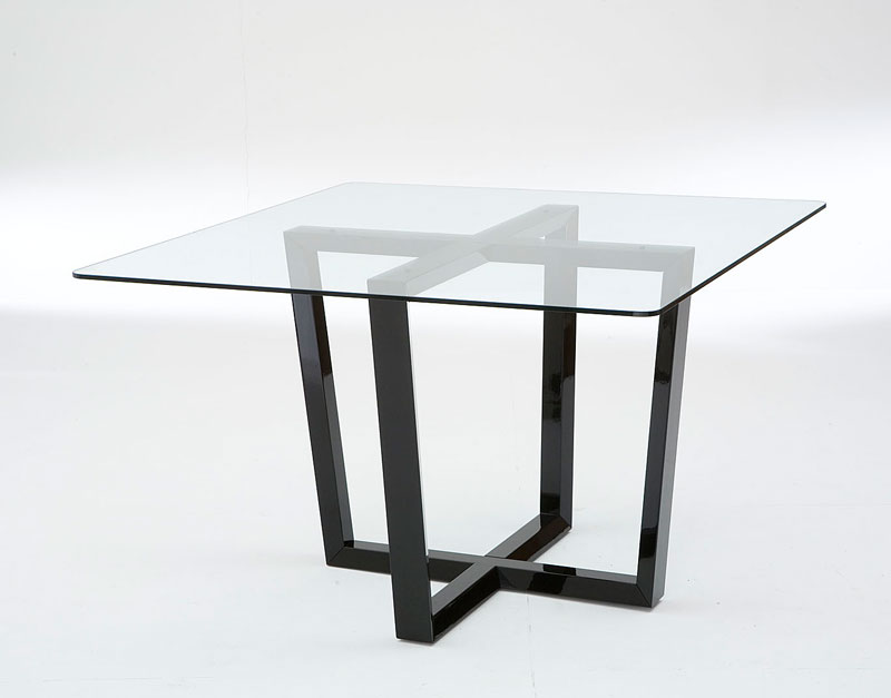 55 glass top dining tables with original bases digsdigs for Dining table base ideas
