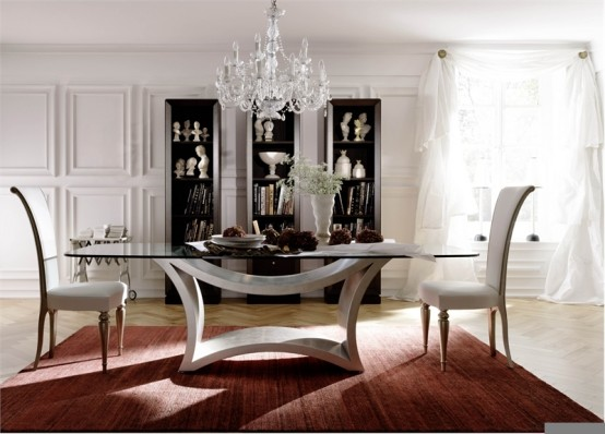 Remarkable Glass Dining Room Tables 554 x 398 · 55 kB · jpeg