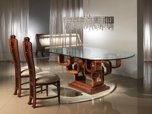 Elegant Glass Top Dining Table With Original Base