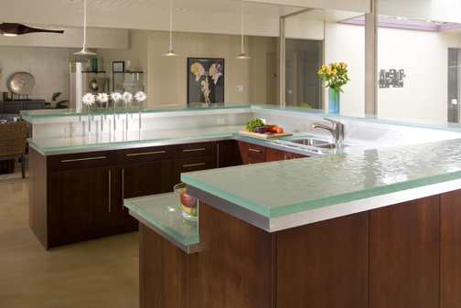 Glass tops for cool and unusual kitchen designs from thinkglass digsdigs Kitchen profile glass design