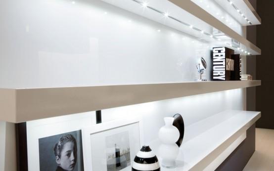 Glossy Black And White Kitchen Diana By Futura Cucine