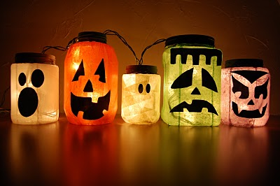 5 Cool Glowing Jack-o-Lantern Jars