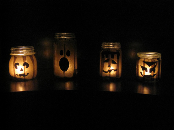 Glowing Jack O Lanterns