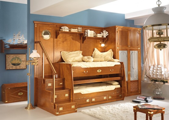 Stunning Great Sea Themed Furniture For Girls And Boys Bedrooms By Caroti