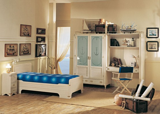 Spectacular Great Sea Themed Furniture For Girls And Boys Bedrooms By Caroti