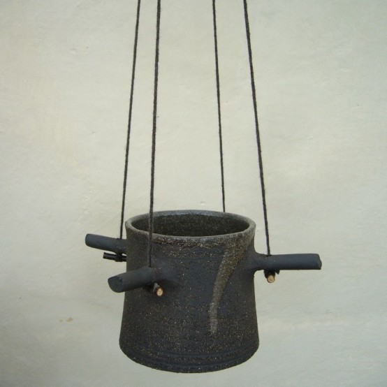 Hanging Flower Pot Four Horns