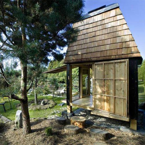 Tea House In A Peaceful Garden
