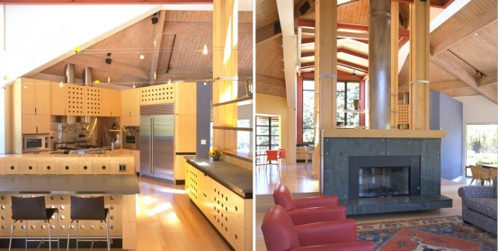 House Design With Contemporary And Natural Finishes Balance