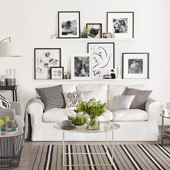 Beautiful IKEA Ektorp Sofa In White In A Modern Living Room