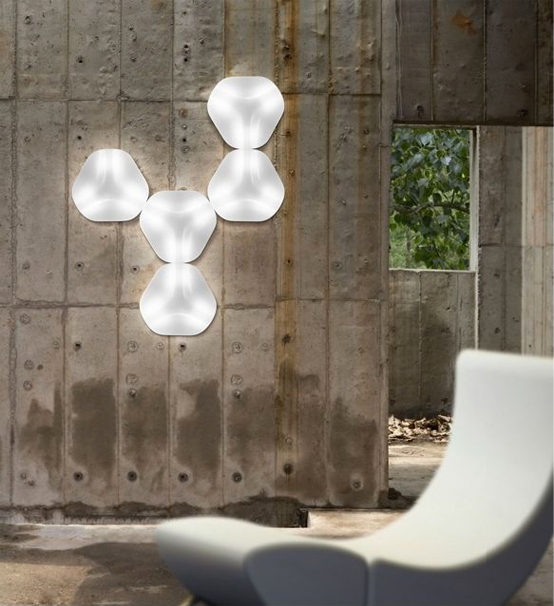 Hexagonal White Wall Lamp – ITRE Trex Wall Sconce by Karim Rashid