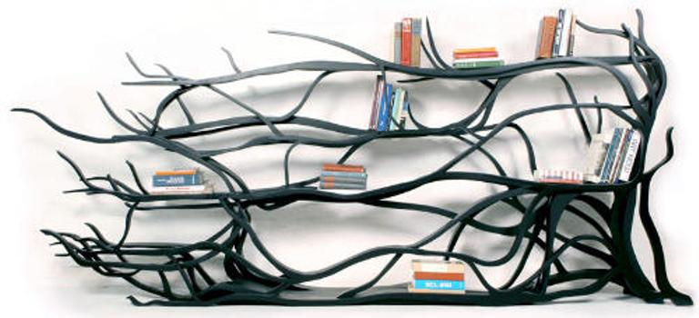 Extremely Original Bookshelf Inspired By An Ivy