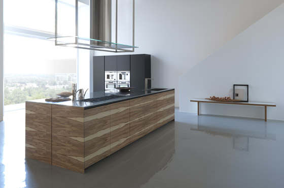 Large Kitchen Island With Wooden Finish – Twenty By Modulnova
