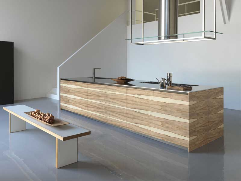 large kitchen island with wooden finish twenty by modulnov digsdigs. Black Bedroom Furniture Sets. Home Design Ideas