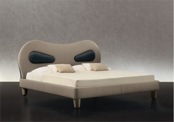 Leather Bed With Practical Headboard – Venice by Giorgetti
