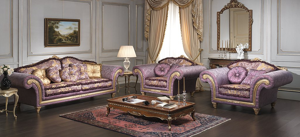 Luxury classic sofa and armchairs imperial by vimercati media digsdigs Home design golden city furniture