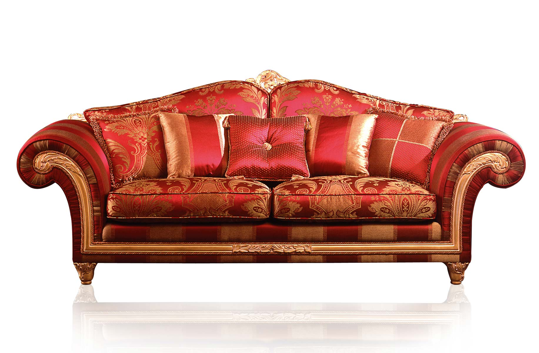 Luxury classic sofa and armchairs imperial by vimercati for Furniture sofas and couches