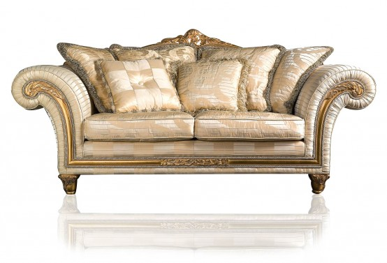 Luxury Classic Sofa And Armchairs Imperial By Vimercati Media