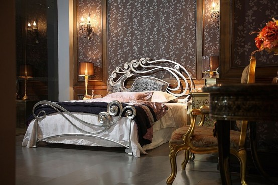 Luxury Metal Bed with Charming Headboard – Phoenix by Stylish