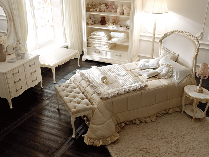Luxury baby girl nursery notte fatata by savio firmino for French style bedroom furniture