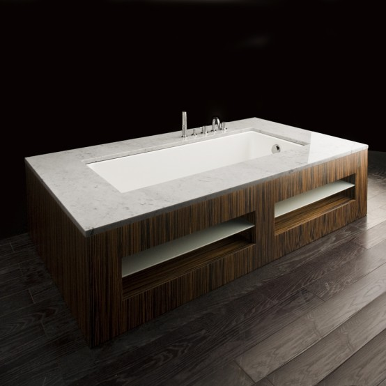 Luxury Bathtubs In Wooden Finish By Lacava