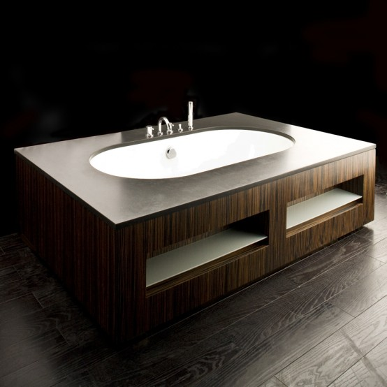 Luxury Bathtubs In Wooden Finish By Lacava Digsdigs