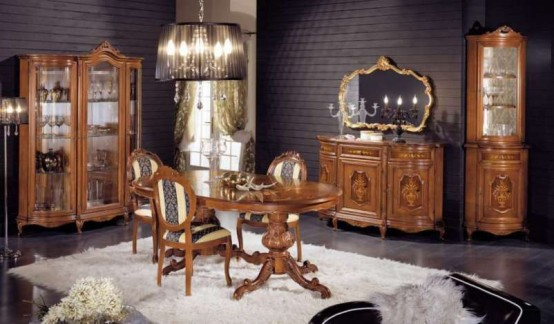 Luxury Classic Dining Room Furniture by Modenese Gastone - DigsDigs