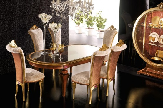 Favorite Luxury Dining Room Set - Tiffany by AltaModa - DigsDigs PC77