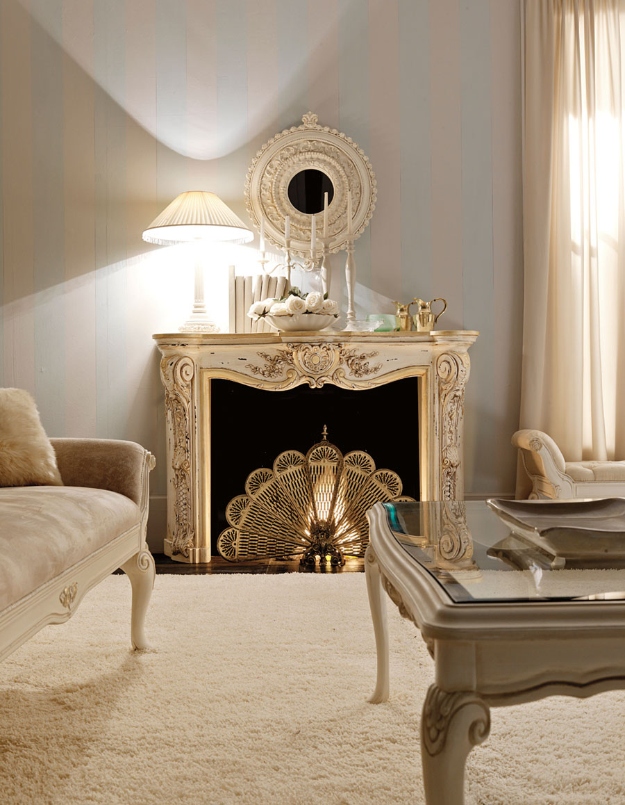 Italian Living Room Design: Luxury Fireplaces For Classic Living Room By Savio Firmino