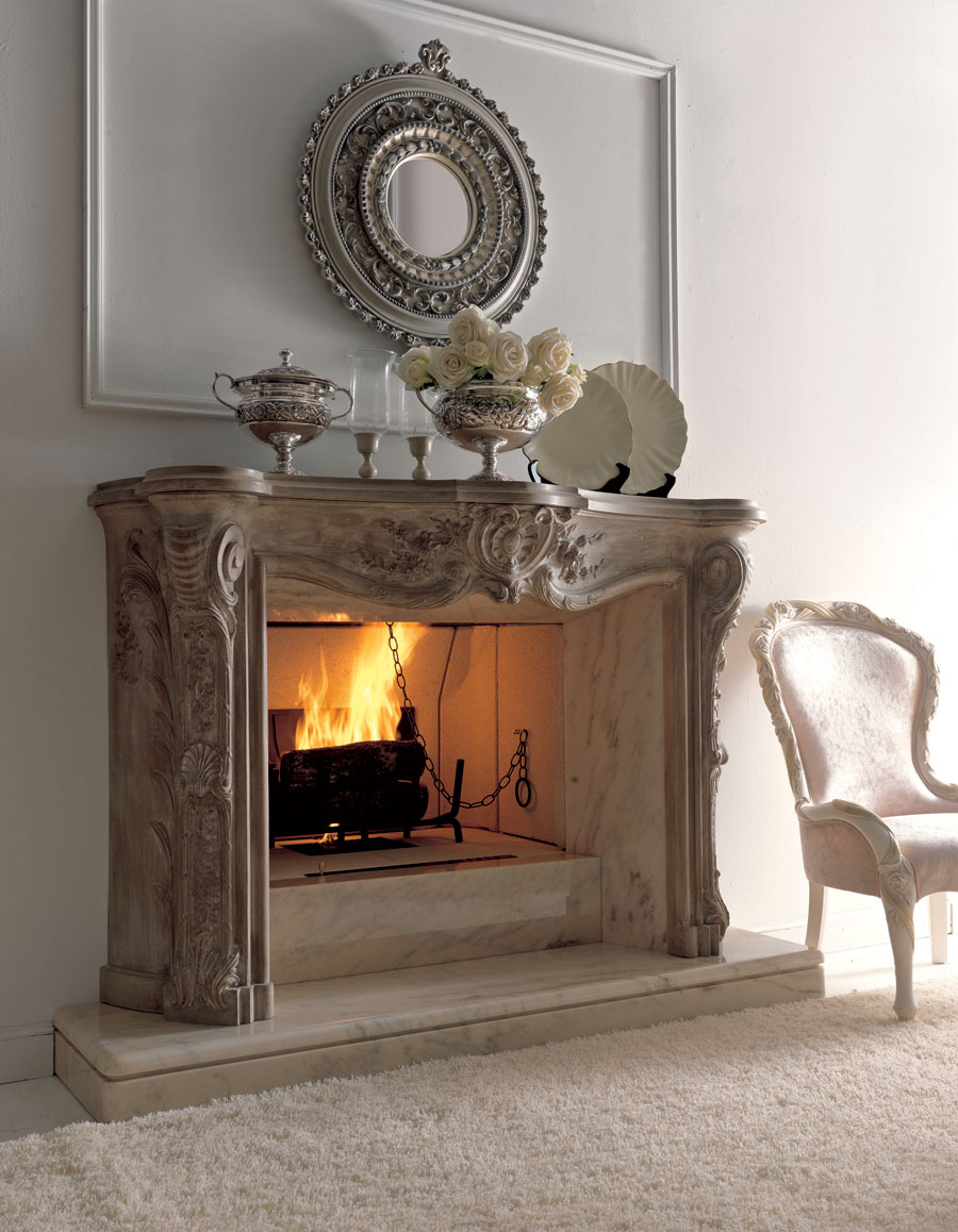 Luxury fireplaces for classic living room by savio firmino Fireplace design ideas