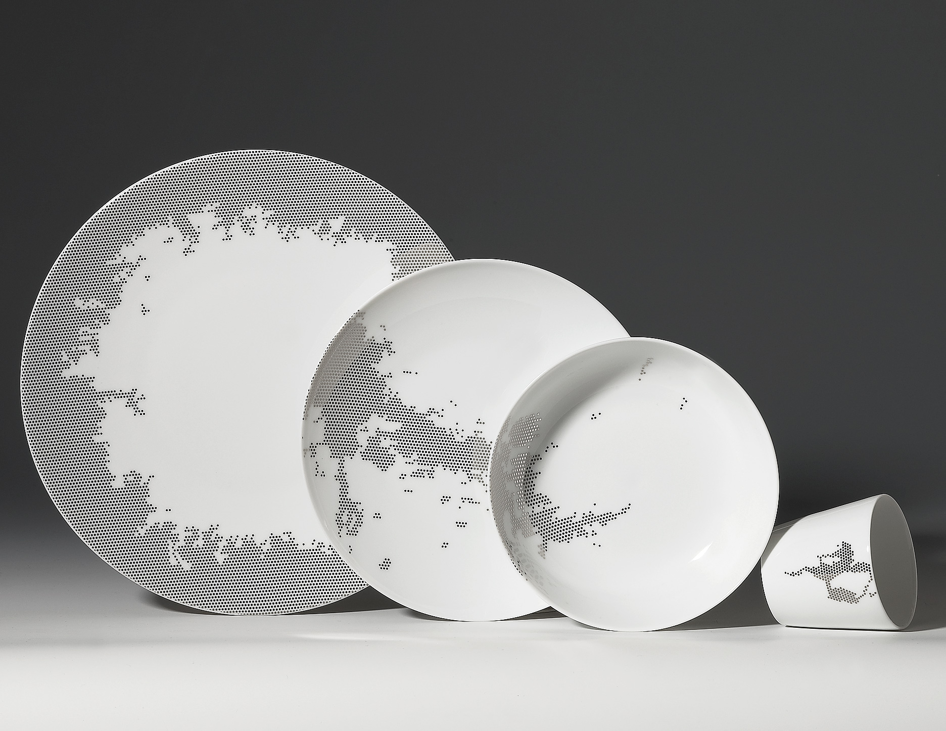 Luxury Porcelain Tableware With Modern Design By Non Sans