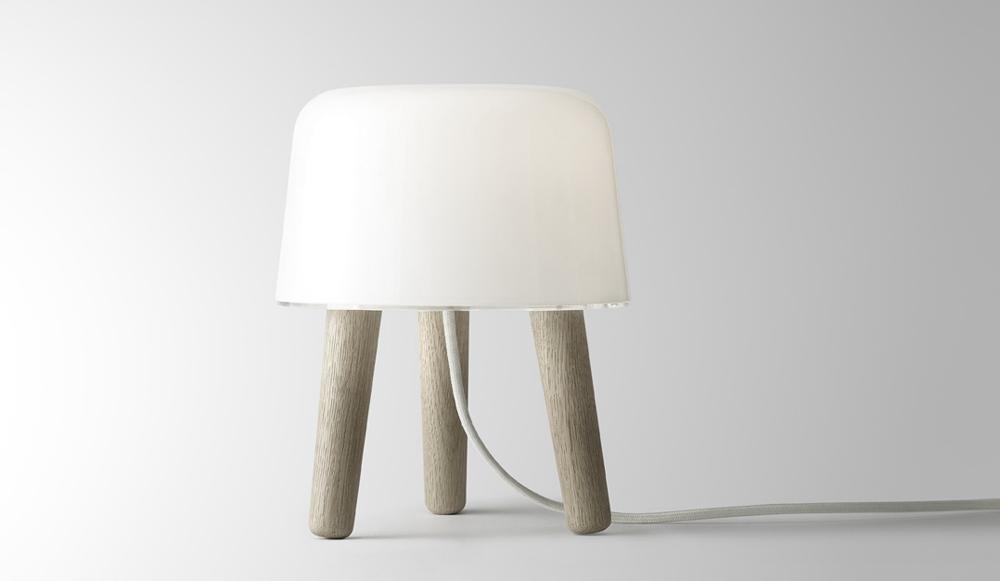 Milk Lamp Wood Sweden Table Lamp